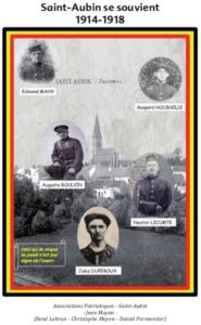 """Couverture du livre : """"Saint-Aubin se souvient : 1914-1918"""""""