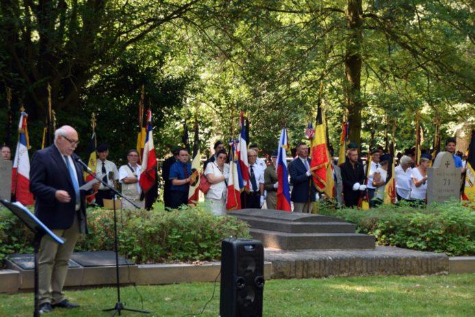 Commémoration du centenaire au cimetière 14/18 de Tarcienne, ce 04 août 2018